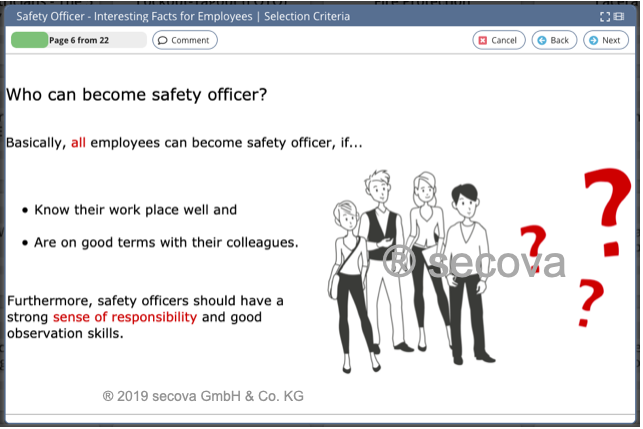 Topic Safety Officer for Employees